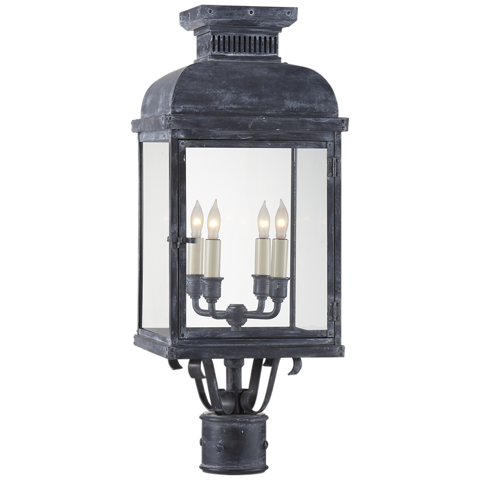 Suffork Post Lantern Zinc