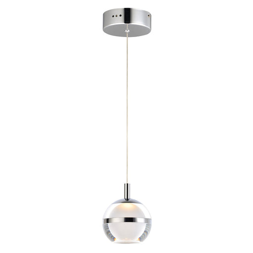 Swank LED Mini Pendant - Polished Chrome