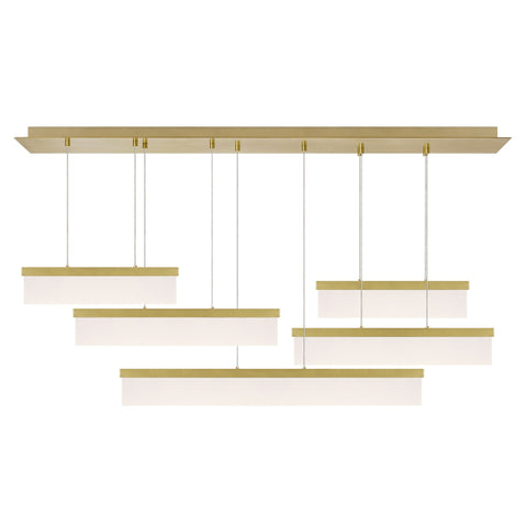 Sweep Linear Suspension - Brass