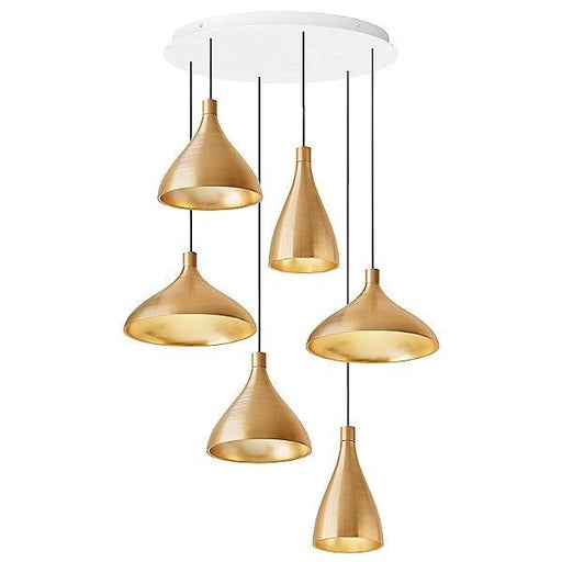 Swell 6-Light Chandelier - Brass