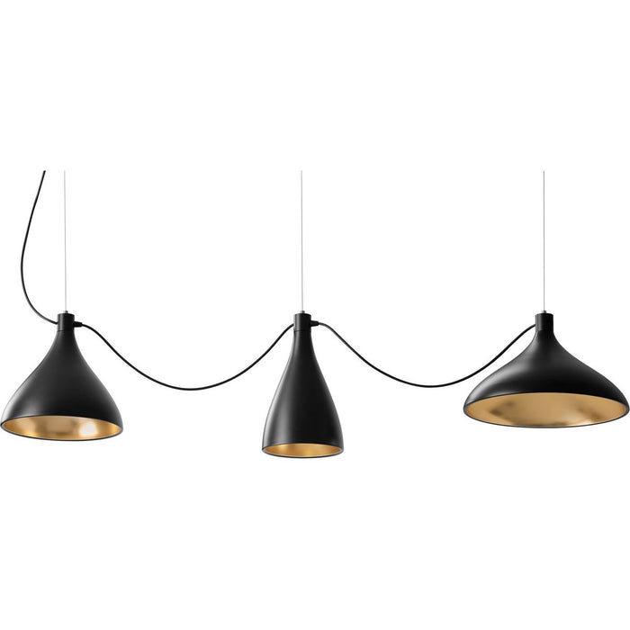 Swell String 3 Mixed Modular Suspension Light - Black