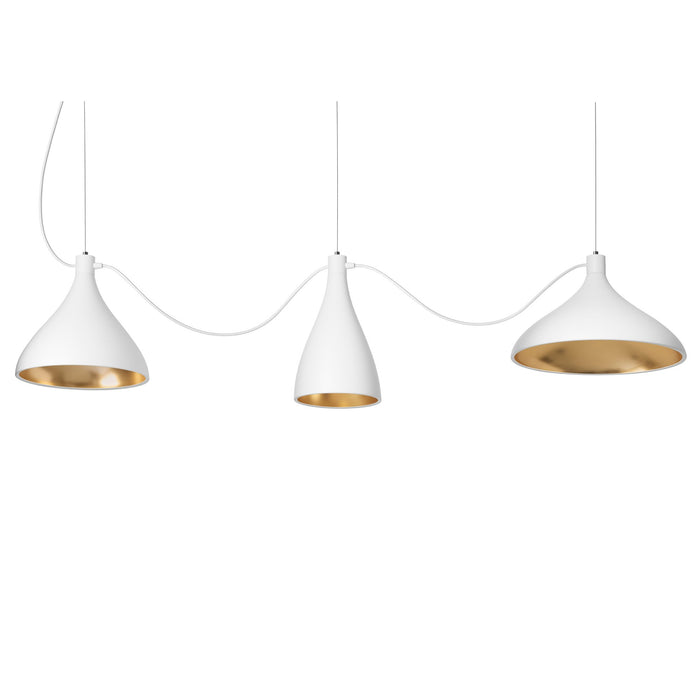 Swell String 3 Mixed Modular Suspension Light - White