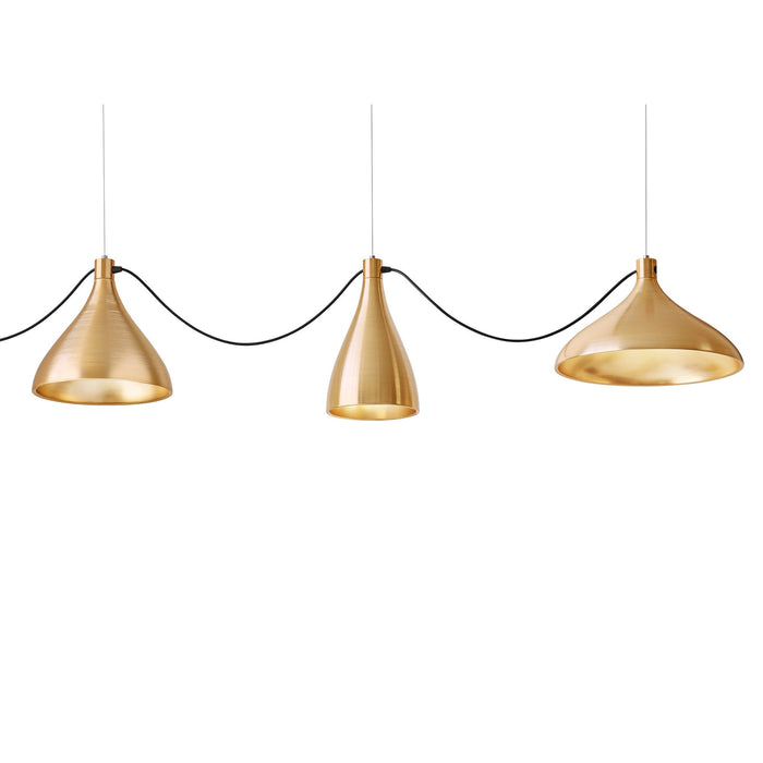 Swell String 3 Mixed Modular Suspension Light - Brass