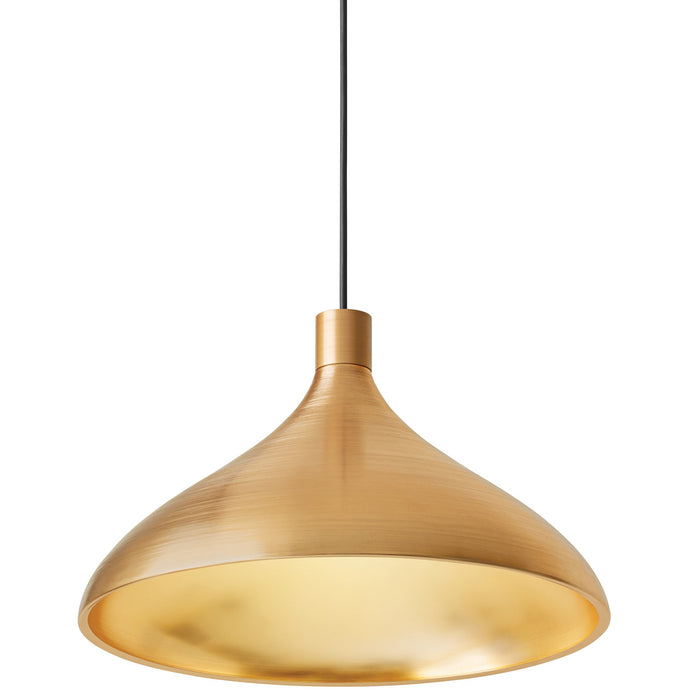 Swell Wide Pendant - Brass