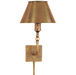 Swivel Head Wall Lamp - Hand-Rubbed Antique Brass Finish
