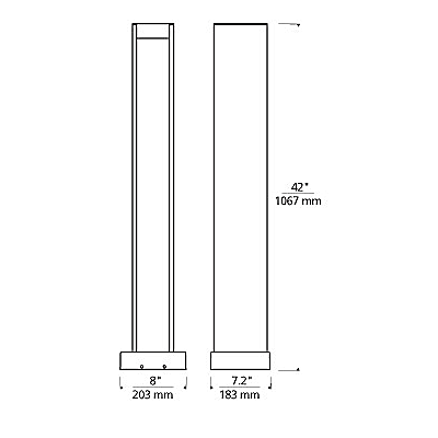 Syntra Bollard Landscape Light - Diagram