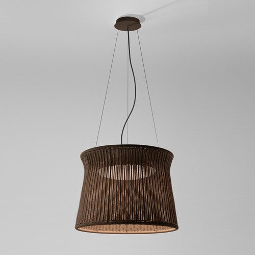 Syra 60 Outdoor Pendant Light - Brown Chocolate