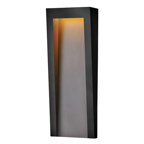 Taper Large LED Outdoor Wall Sconce - Textured Black Finish