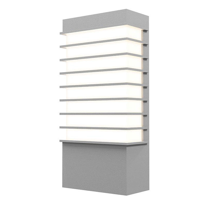 "Tawa 13"" LED Outdoor Wall Sconce - Textured Gray Finish"