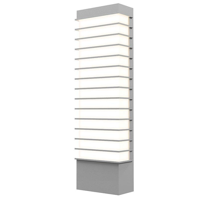 "Tawa 21"" LED Outdoor Wall Sconce - Textured Gray Finish"