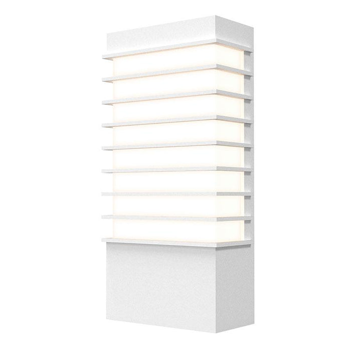 "Tawa 13"" LED Outdoor Wall Sconce - Textured White Finish"
