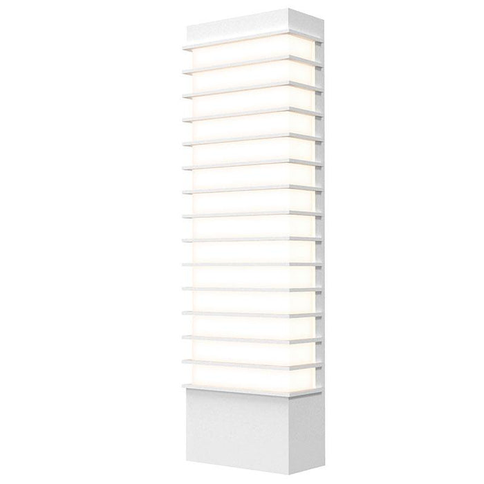 "Tawa 21"" LED Outdoor Wall Sconce - Textured White Finish"