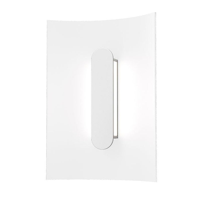 "Tairu 8"" LED Outdoor Wall Sconce - Textured White Finish"