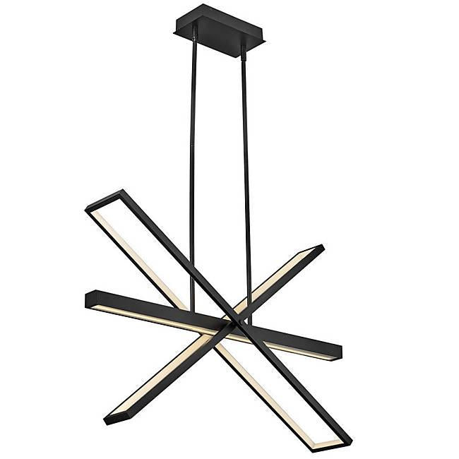 Tangent LED Chandelier - Black Finish