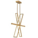 Tangent LED Chandelier - Lacquered Brass Finish