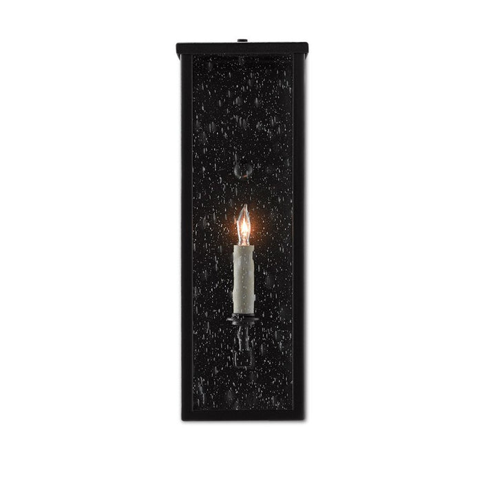 Tanzy Small Outdoor Wall Sconce - Midnight Black Finish
