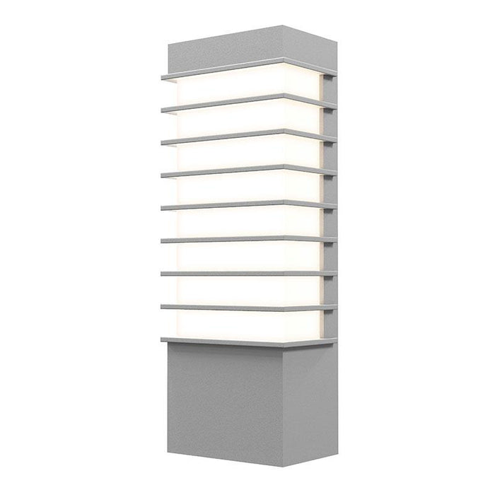 "Tawa Slim 13"" LED Outdoor Wall Sconce - Textured Gray Finish"