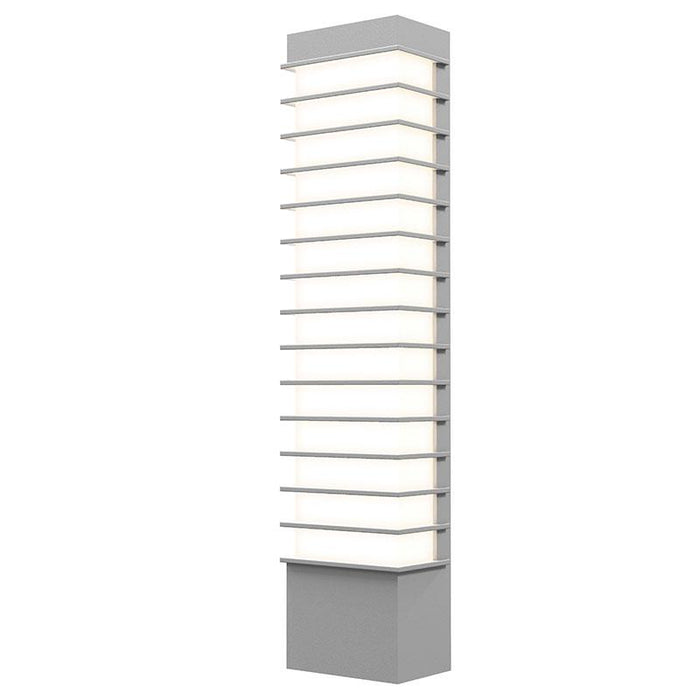 "Tawa Slim 21"" LED Outdoor Wall Sconce - Textured Gray Finish"