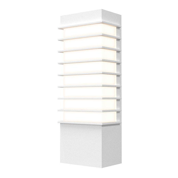 "Tawa Slim 13"" LED Outdoor Wall Sconce - Textured White Finish"