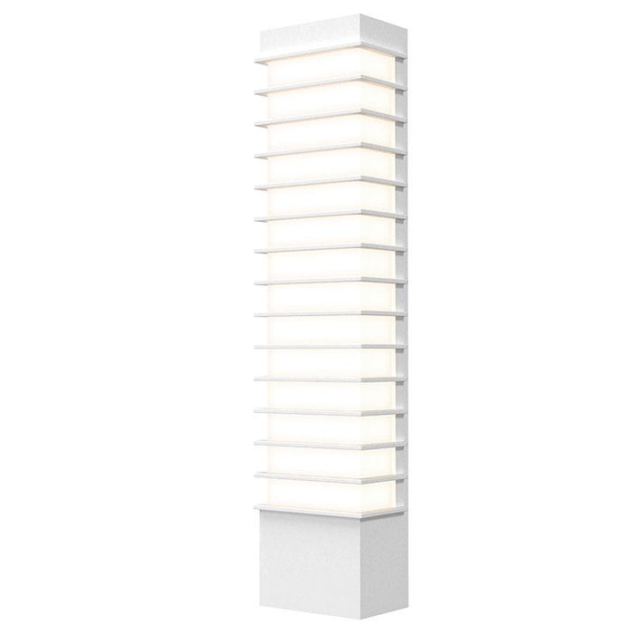 "Tawa Slim 21"" LED Outdoor Wall Sconce - Textured White Finish"