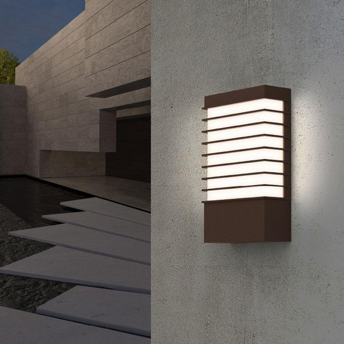 Tawa Wide LED Outdoor Wall Sconce - Display