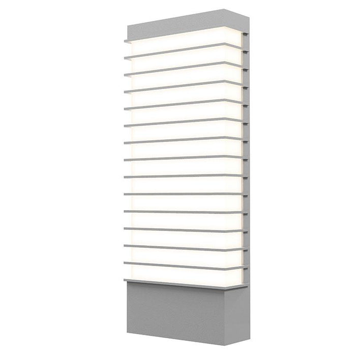 "Tawa Wide 21"" LED Outdoor Wall Sconce - Textured Gray Finish"
