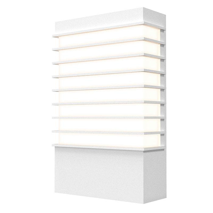 "Tawa Wide 13"" LED Outdoor Wall Sconce - Textured White Finish"