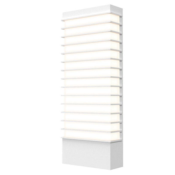 "Tawa Wide 21"" LED Outdoor Wall Sconce - Textured White Finish"