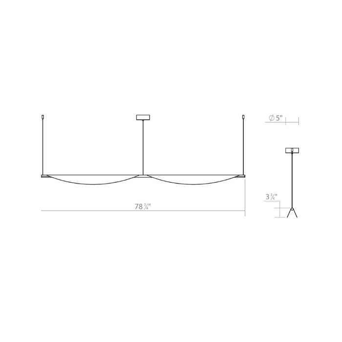 Tela LED Double Linear Suspension - Diagram