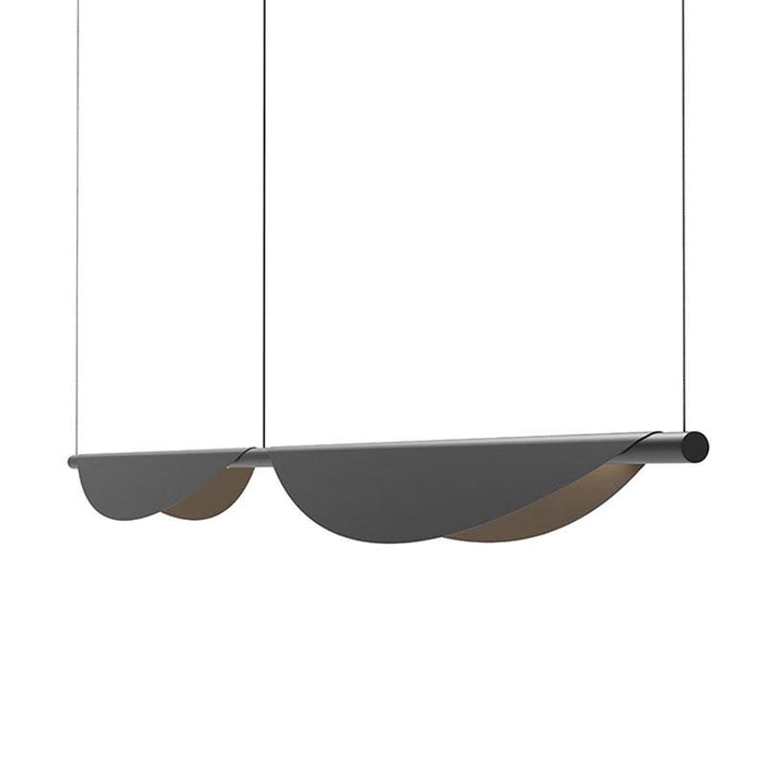 Tela LED Double Linear Suspension - Satin Black Finish