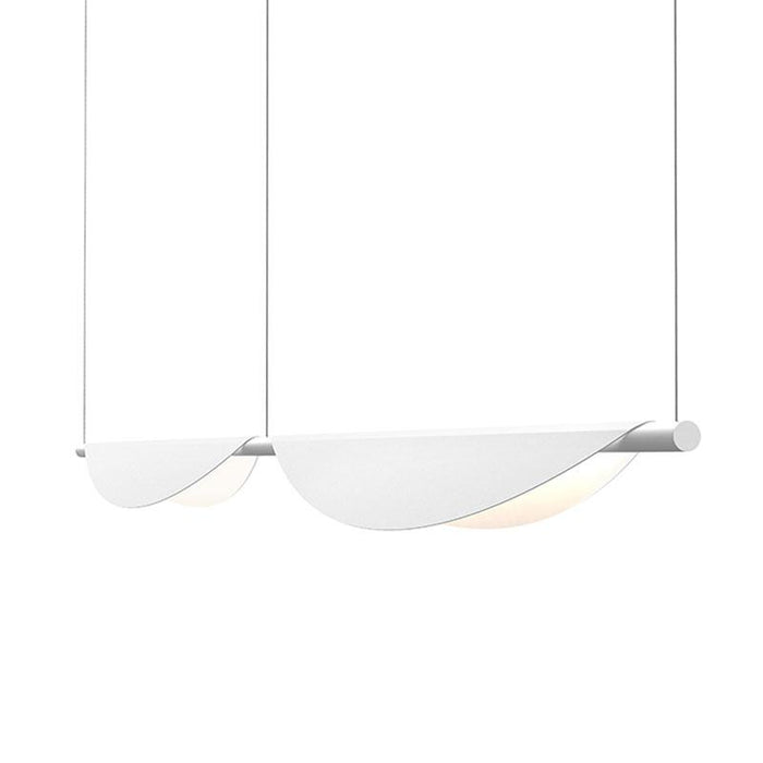 Tela LED Double Linear Suspension - Satin White Finish