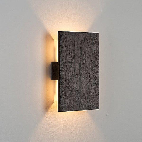 Tersus LED Wall Sconce - Dark Stained Walnut Finish