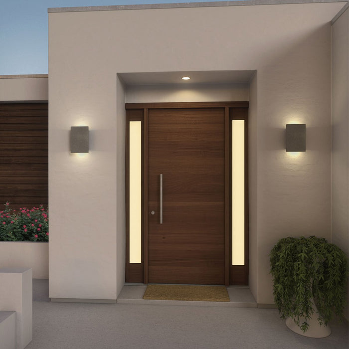 Tersus Up & Downlight Outdoor LED Sconce - Display