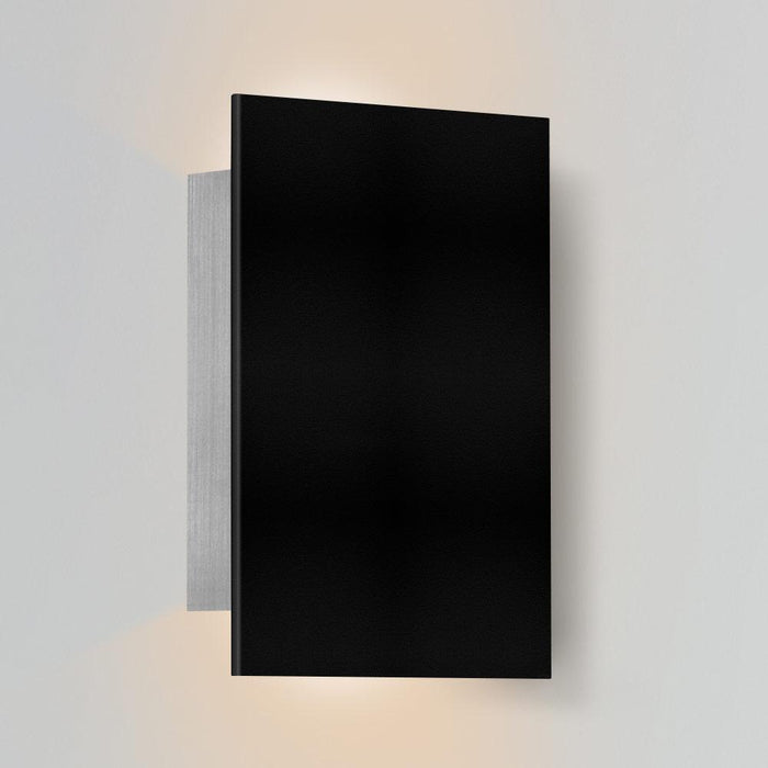 Tersus Up & Downlight Outdoor LED Sconce - Textured Black Finish