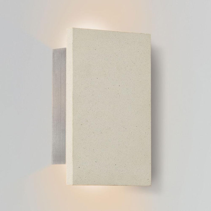 Tersus Up & Downlight Outdoor LED Sconce - White Concrete Finish