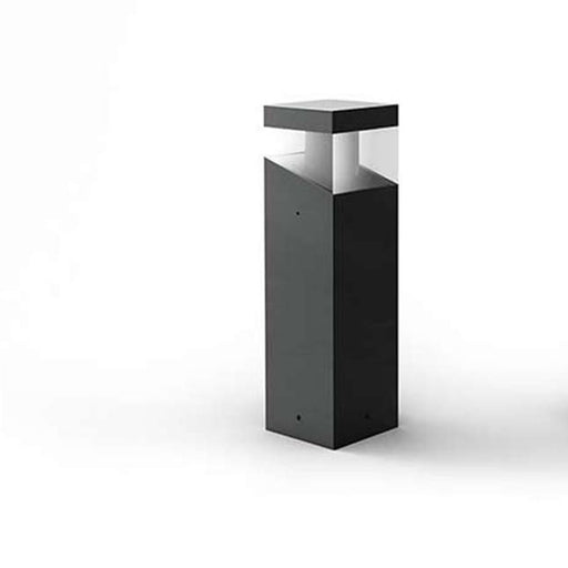 Tetragono Small Outdoor LED Bollard - Anthracite Grey Finish