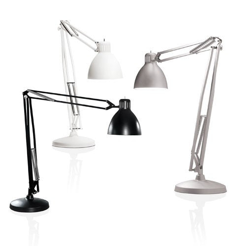 The Great JJ Floor Lamp - Matte White/Matte Grey/Gloss Black