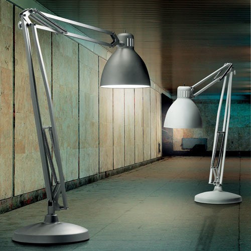 The Great JJ Floor Lamp - Matte Grey/Matte White