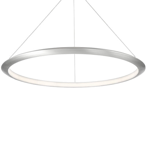 The Ring Large Pendant - Brushed Aluminum Finish