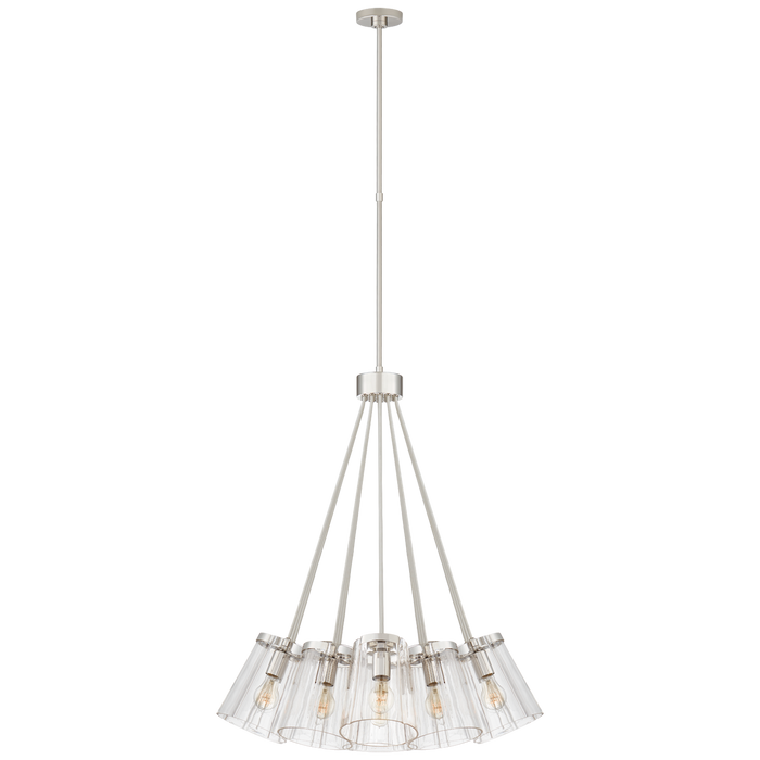 Thoreau Large Chandelier - Polished Nickel Finish