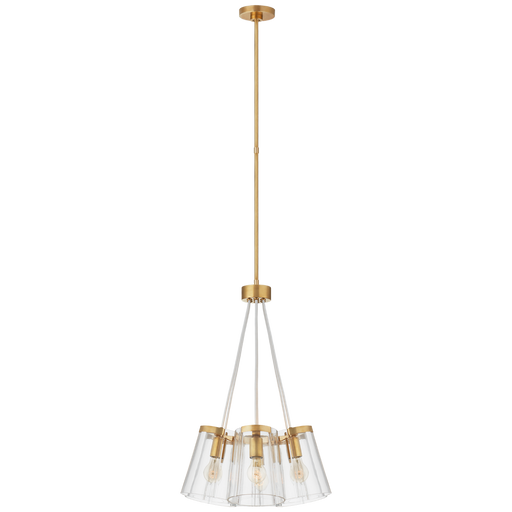 Thoreau Small Chandelier - Soft Brass Finish