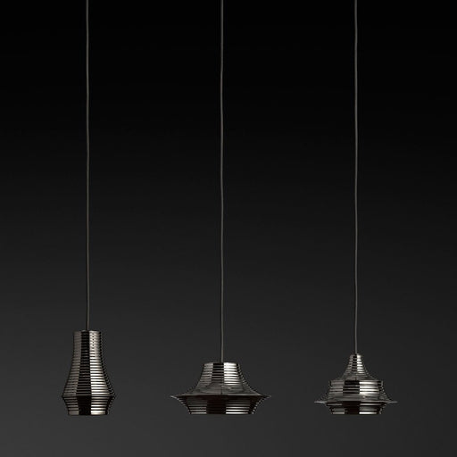 Tibeta 3 Light Muiltipoint Pendant Light - Black Chrome