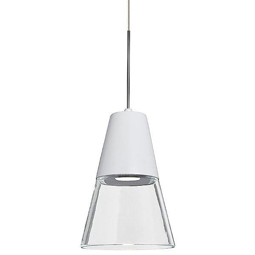 Timo 6 Mini Pendant Light Clear/White Satin Nickel