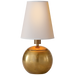 Tiny Terri Round Accent Lamp - Hand-Rubbed Antique Brass