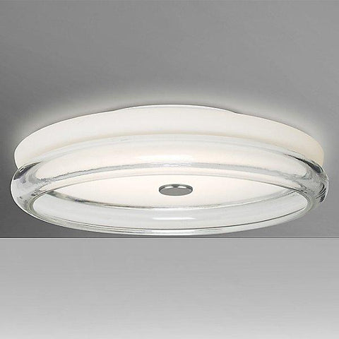 Topper 12 Flush Mount Ceiling Light Opal/Clear