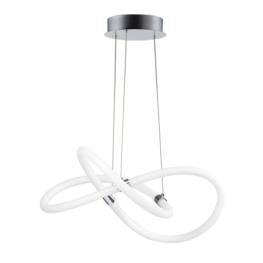 Tracer Pendant - White/Polished Chrome Finish