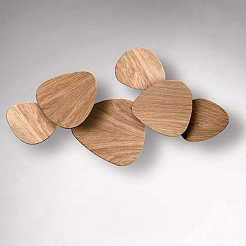 Tria Set of 6 Wall Light - Oak