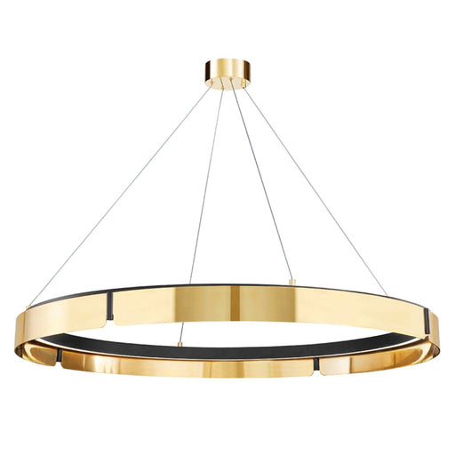 Tribeca Large Chandelier - Aged Brass/Black Finish