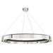 Tribeca Large Chandelier - Burnished Nickel/Black Finish