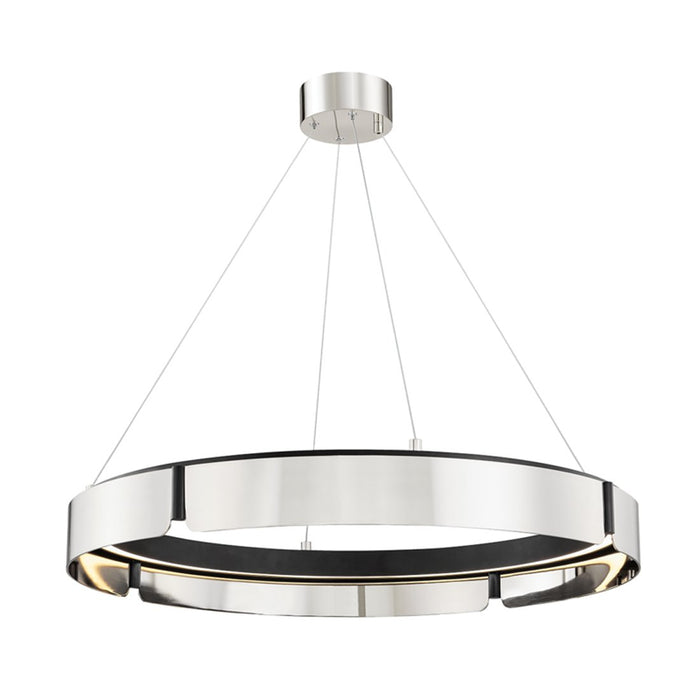 Tribeca Medium Chandelier - Burnished Nickel/Black Finish